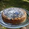 Fyllig blåbärskaka med smak av jordnöt